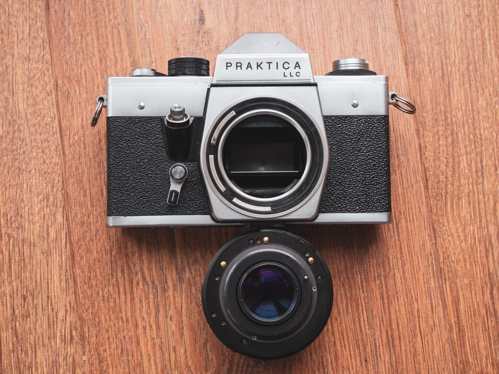 Praktica LLC with electric lens.